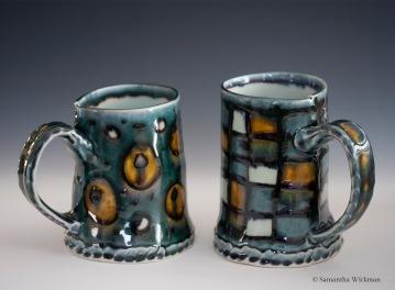 Circles and Squares Mugs, Porcelain, 2015