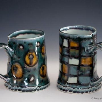 Circles and Squares Mugs, Porcelain, 2015