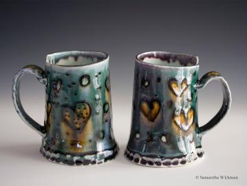 Heart Mugs, Porcelain, 2015
