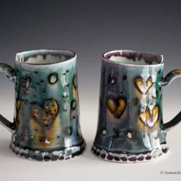 Heart Mugs, Porcelain, 2015