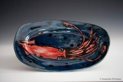 Squid Plate, Porcelain, 2014