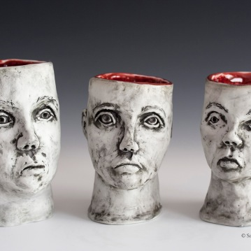 Empty Vessels, Porcelain, 2014