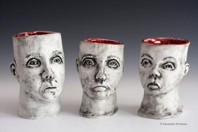 Empty Vessels, Porcelain, 2014