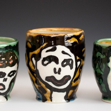 Face Mugs, Porcelain, 2012