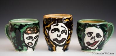 Face Mugs, Porcelain, 2012
