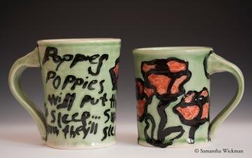 Poppies Mugs, Porcelain, 2012