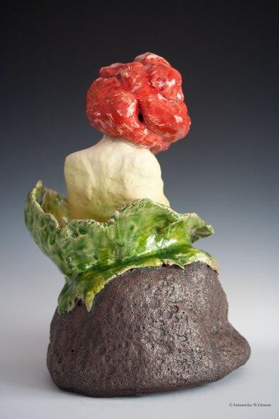 Corpse Flower (detail), b-mix paper clay, glaze, underglaze, acrylic paint, 2016-17